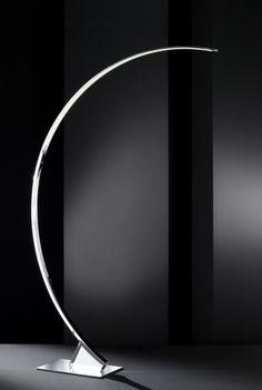 Floor Led Lamps: Luxusná stojanová LED lampa. Wofi LUZ Chrome Floor Lamp,Lighting