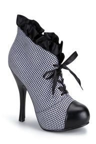 Too cute Houndstooth Ruffle Ankle Bootie Shoes Too Big, Crazy Shoes, New Shoes, Cute Shoes, Women's Shoes, Fancy Shoes, Ankle Boots, Shoe Boots, Shoe Bag