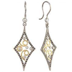 Annie Fensterstock - Mini Pave Marquis Earrings (Gold/White Gold) - Hirshleifers #ILOVEHIRSHLEIFERS