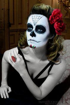 Dia de los Muertos aka Day of the Dead ©Quinton Thomas #makeup #Halloween