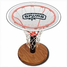 SAN ANTONIO SPURS NBA BASKETBALL SPORTS TABLE   - Click image twice for more info - See a larger selection of  glass coffee tables at http://zcoffeetables.com/product-category/glass-coffee-tables/ - home, home decor, home ideas, home furniture, office furniture, table, gift ideas, living room,
