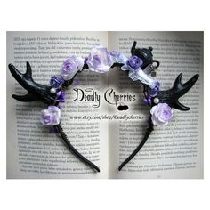 New material Elegant Enchanted Mori Goth deer horns antler hair band... ❤ liked on Polyvore featuring jewelry