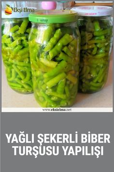 Konserve Tarifi We are here with the greasy sugar pepper pickles which will fascinate everyone with its flavor in the period when winter preparations . Pickles, Cucumber, Stuffed Peppers, How To Make, Recipes, Food, Period, Pasta, Hair