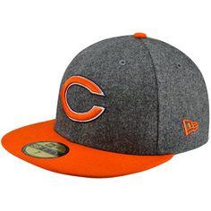 54ddf91ea7e New Era Chicago Bears Melton Basic 59FIFTY Fitted Hat - Charcoal Orange