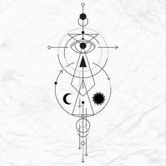 Download - Modern geometric alchemy symbol — Stock Illustration #88934034