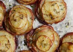 Potatoe Dinner Recipes, Potato Dishes, Potato Recipes, Vegetable Recipes, Veggie Dishes, Vegetarian Recipes, Mini Potatoes, Sliced Potatoes, Crispy Potatoes
