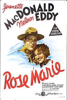 Rose Marie is a 1936 black-and-white musical film starring Jeanette MacDonald, Nelson Eddy and Reginald Owen and directed by W. S. Van Dyke. It was the second of three MGM adaptations of the 1924 Broadway musical of the same name. A silent version was released in 1928 and a color film in 1954. All three versions are set in the Canadian wilderness. Portions of Rudolf Friml and Herbert Stothart's original score for the Broadway musical are utilized in both the 1936 and 1954 films.