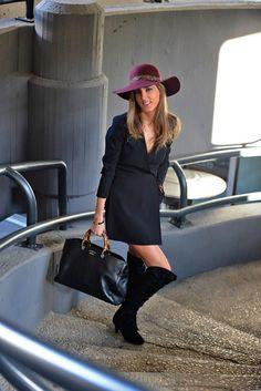 Street style, fashion blogger, boho style, black dress, zara dress, Gucci bag, gucci shopping bag, black bag, bamboo Gucci, over the knee boots, thehighville