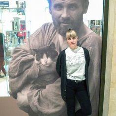 Sara at Leopold Museum