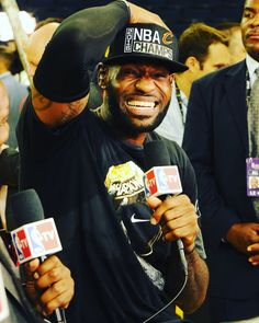 LeBron gets emotional when he won the Championship. Who wouldn't be!!!