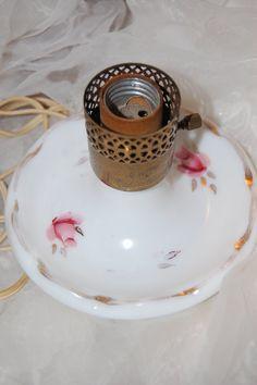 VINTAGE  Rose and Gold Porcelain lamp by PenelopesTreasures, $23.00