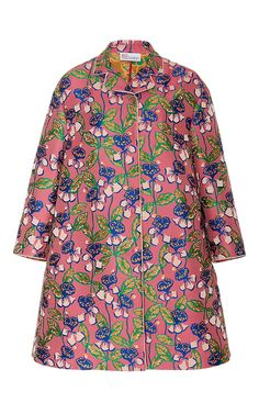 Tropical Floral Jacquard Coat by RED VALENTINO for Preorder on Moda Operandi