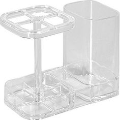 InterDesign Med+ Bathroom Medicine Cabinet Organizer, Toothbrush and Toothpaste Holder - Clear