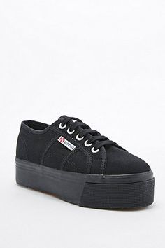 Superga 2790 Linea Up And Down Flatform Black Trainers 3ddfa2dfd1