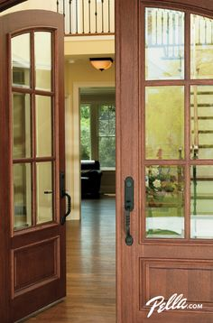 Greet Your Guests With Beautifully Crafted Pella Architect Series Wood Entry Doors