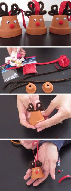 Reindeer Ornaments | 20+ DIY Christmas Crafts for Kids to Make Mais