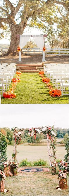 40 Outdoor Fall Wedding Arch and Altar Ideas #weddingarches #weddingbackdrops #fall #fallweddings #wedding #weddingideas