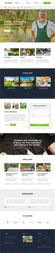 PLANTER is a fully responsive 3 in 1 #WordPress theme that suits for every #Gardening, #Landscaping Companies, Lawn Services and all kind of Gardening Business websites download now➩ https://themeforest.net/item/planter-landscaping-gardening-wordpress-theme/16535556?ref=Datasata