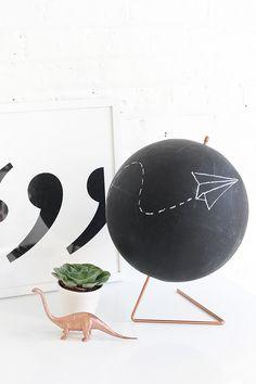 MY DIY   Copper Chalkboard Globe