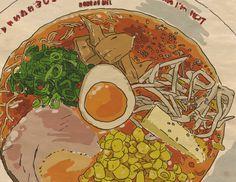 Tonkotsu ramen illustration