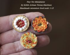 Handmade miniature food. Tiny Ter Miniatures
