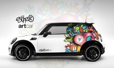 The Mini Cooper customized ARTcar with my SPRING design on it