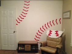 Hey, I found this really awesome Etsy listing at http://www.etsy.com/listing/157772164/baseball-wall-decal