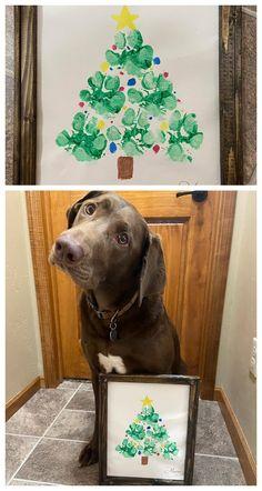 Paw Print Crafts, Paw Print Art, Dog Crafts, Animal Crafts, Christmas Dog, Christmas Crafts, Xmas, Pet Paws, Dog Daycare