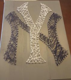 String art for NY Yankees logo