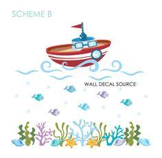 Ocean Decals Boat Decals Bathroom Decals by WallDecalSource