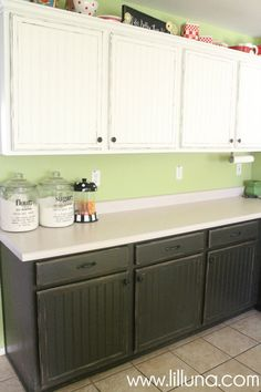 Kitchen Cabinet Makeover - 150 dollars for such a huge difference!