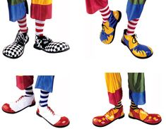 Zapatos de payaso, en varios colores y modelos. Disponibles en www.vegaoo.es