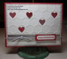 Language of Love & hexagons - an easy breezy Valentine! www.stampingwithpennie.com