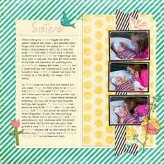 Layout using April Showers by Krystal Hartley