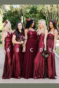 Wonderful Perfect Wedding Dress For The Bride Ideas. Ineffable Perfect Wedding Dress For The Bride Ideas. Red Bridemaids Dresses, Red Bridesmaids, Mismatched Bridesmaid Dresses, Bridesmaid Outfit, Bridesmaid Ideas, Wedding Party Dresses, Reception Dresses, Wedding Ideas, Fall Wedding