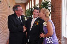 Groom & parents inside Robert Carr Chapel on the TCU campus in Ft Worth, TX Jim Byrd Photography #wedding #RobertCarrChapel