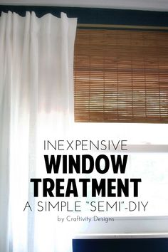 """A simple, """"semi""""-DIY window treatment. Add layer and texture with bamboo blinds, without spending a lot of money! // Craftivity Designs"""