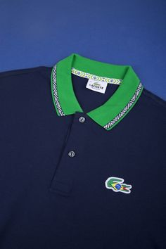 Croc goes to Brazil Up close and personal, new polo from the Rio Collection Croc goes to World Cup Brazil Polo Shirt Outfits, Mens Polo T Shirts, Polo Shirt Design, Lacoste Polo, Camisa Polo, Designer Clothes For Men, Well Dressed Men, Textiles, Sportswear