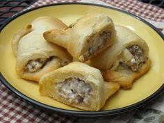 Sausage and cream cheese stuffed crescent rolls! Had these for the first time  made by this weekend, TO DIE FOR!!!!!!!