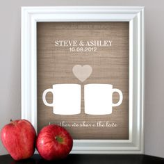 Coffee Love - Custom Wedding Date Name Print