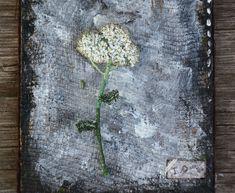 """Купить Текстильная бохо брошь """"Тысячелистник"""" - белый, цветок, лето, брошь, брошь цветок"""