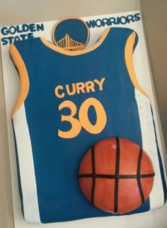 Golden state warriors basket ball jeresy. Nico's cake