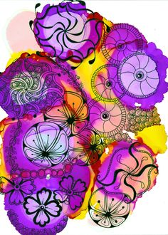 alcohol ink art, Alice Hendon, CZT, The Creator's Leaf, www.thecreatorsleaf.com