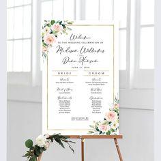 #weddingprogram #weddingsigns #weddingreception #ceremonyprogram #program #itinerary #wedding #sign #signs #diy #printable #weddingprintables #reception #weddingreception #weddingdecor #bridaldecor #greenery #bohowedding #bohemian #hippie Cream Roses, Blush Roses, White Roses, Pink Roses, Wedding Program Sign, Ceremony Programs, Wedding Signs, Bridal Decorations, Photo Booth Frame