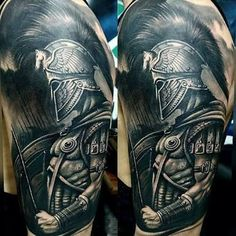 Legendary Spartan Tattoo Ideas - Discover The Meaning .- Legendäre Spartan Tattoo Ideen – Entdecken Sie die Bedeutung dieser Power Bilder – Tattoo Ideen legendary Spartan tattoo ideas – discover the meaning of these power images - Warrior Tattoo Sleeve, Warrior Tattoos, Armor Tattoo, Badass Tattoos, Viking Tattoos, Norse Tattoo, Tattoo Arm, Gladiator Tattoo, God Tattoos
