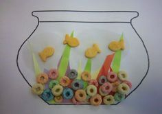 Fish Bowl paper plate | 14d summer crafts for kids The kids all created great fishbowls ...