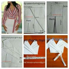 Rosasmae Fashion (@rosasmae_fashion) • Fotos y vídeos de Instagram Coat Patterns, Dress Sewing Patterns, Blouse Patterns, Clothing Patterns, Pattern Draping, Bodice Pattern, Fashion Sewing, Diy Fashion, Sewing Blouses