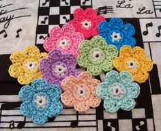 Crochet Flower Appliques by FineThreads on Etsy, $3.00