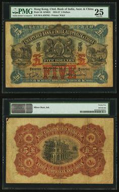 Hong Kong Chartered Bank of India, Australia and China $5 1.5.1924 Old Newspaper, Old Coins, Bank Of India, World History, Hong Kong, Stamp, Central Bank, Coins, Souvenirs