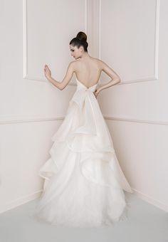 COLLEZIONE 2016 - Antonio Riva Non White Wedding Dresses, Gorgeous Wedding Dress, Best Wedding Dresses, Wedding Gowns, Wedding Day, Wedding Things, Couture Collection, Bridal Collection, One Shoulder Wedding Dress